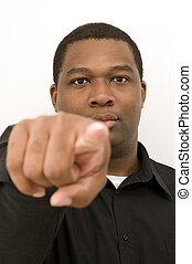 Black Male Pointing