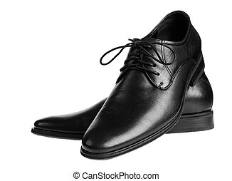 Black male shoes. isolated on white background