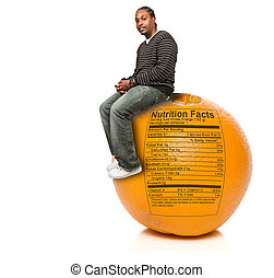 Black Man and Orange Nutrition Facts