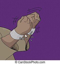 Black Man Breaking Shackles