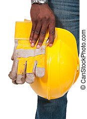 Black Man Construction Worker