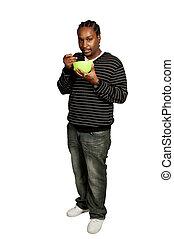 Black Man Eating