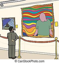 Black Man in Art Museum