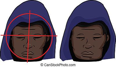Black Man Targeted
