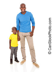 black man with his son
