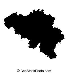 black map of Belgium