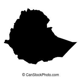 black map of Ethiopia