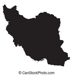 Black map of Iran
