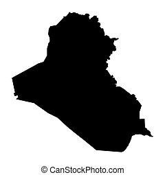 black map of Iraq