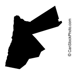 black map of Jordan