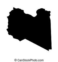 black map of Libya