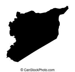 black map of Syria
