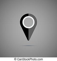 Black map pointer icon.