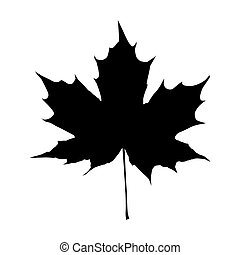 black maple leaf vector - Maple Leaf Silhouette for your...