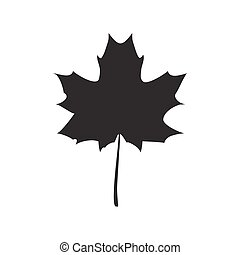 Black Maple leaf vector illustration
