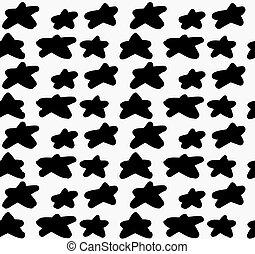 Black marker drawn simple stars