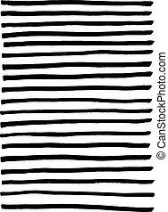 Black marker lines. Striped background. Vector illustration