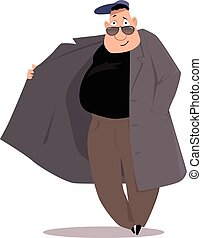 Black market salesman cartoon, EPS 8 vector illustration, no...