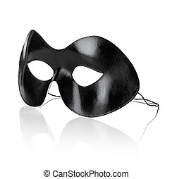 Black Mask - Black eye mask isolated on white with natural ...