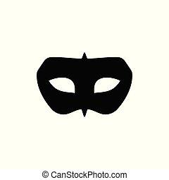 Black Mask Masquerade Symbol Design