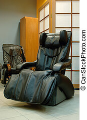 black massage chair