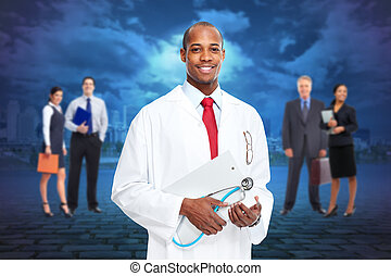 Black medical doctor man.