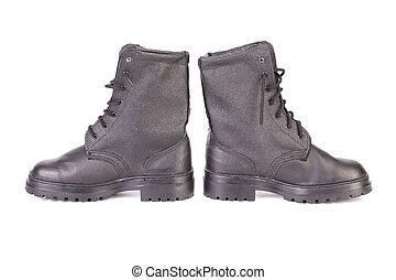 Black men's shoes.