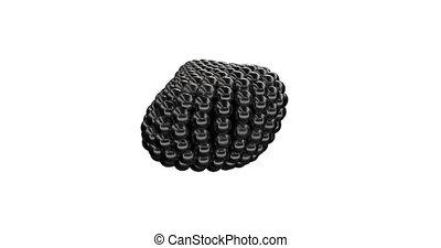 Black Metaball Sphere able to loop