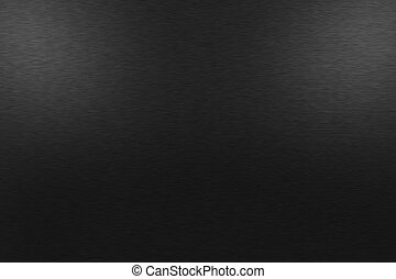 subdued lighting. Black Metal Background With Two Upper Lights - Pattern Of. Subdued Lighting