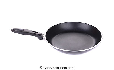 Black metal frying pan.