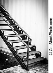 Staircase - Black metal Staircase