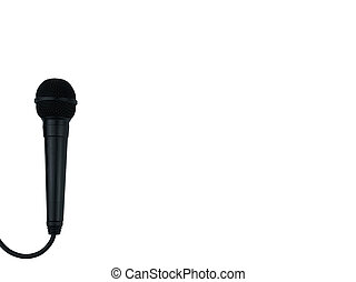 Black Microphone on isolated white