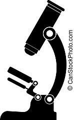 black microscope icon