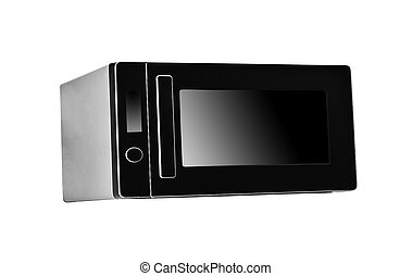 Black Microwave isolated