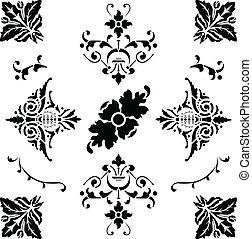 black , middeleeuws, versieringen