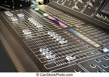 Mixing Board - Black Mixing Board in detail as Background