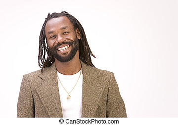 Black Model in pose - A black man with dreadlock hair ...