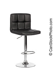 Black modern bar chair isolated on white background