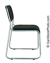 black modern chair isolated on white with clipping path