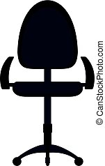 Black modern office chair icon isolated