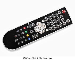 remote control - black modern remote control over the white ...