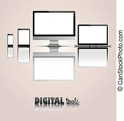 Black Monitor Notebook Tablet Smartphone Digital Tools