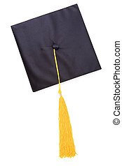 Black Mortarboard with white background