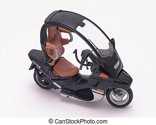 black Motor scooter with cover diecast model