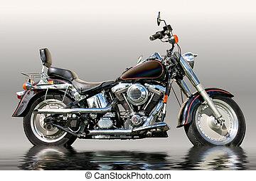 Black motorcycle - Big, black and beautiful