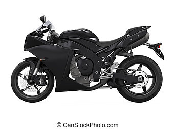 Black Motorcycle Isolated