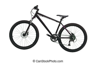 black mountain bike isolated