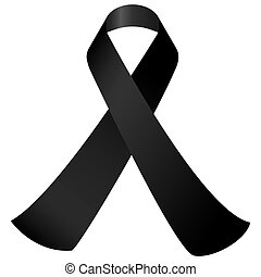 black mourning ribbon