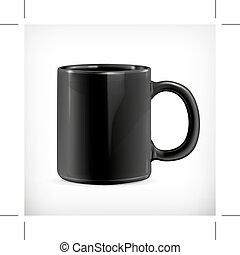 Black mug illustration