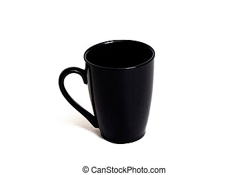 Black mug isolated on a white background